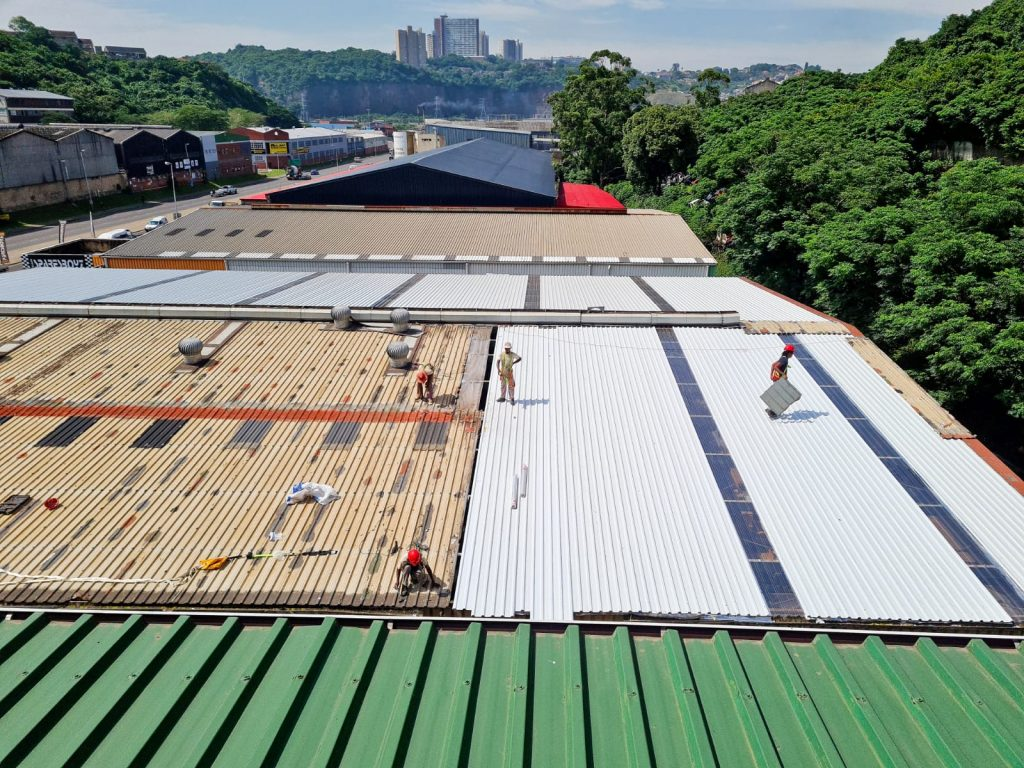 Estimate for a new roof in Durban